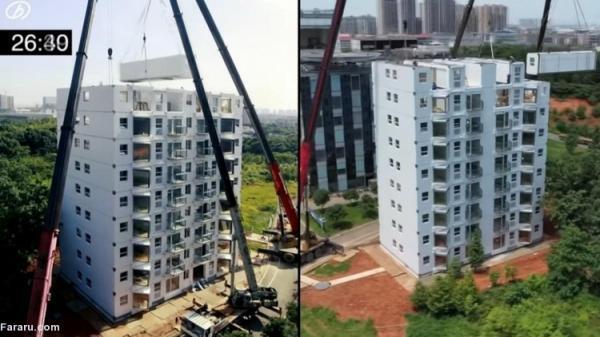 (ویدئو) ساخت آپارتمان 10 طبقه در 28 ساعت!